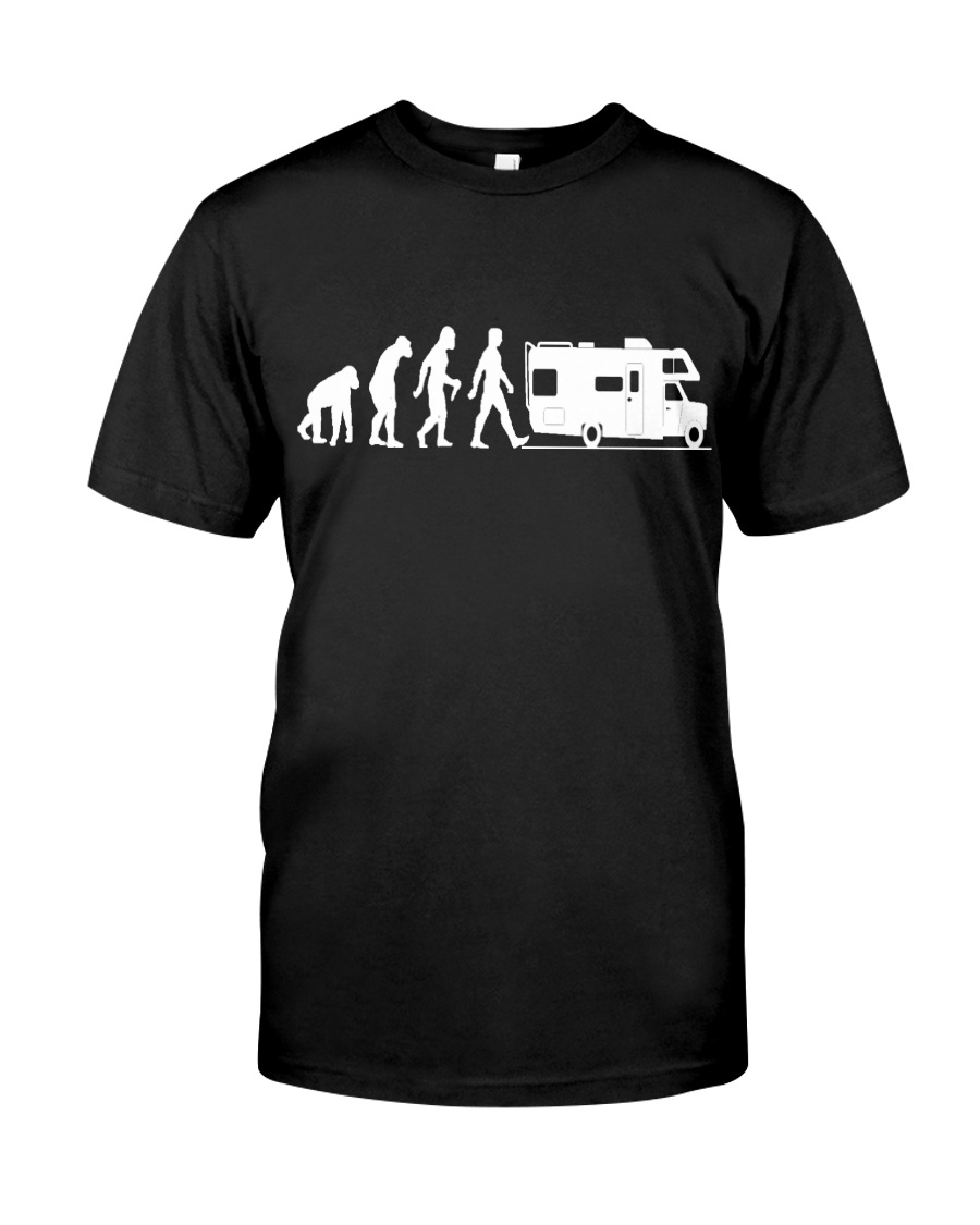 Camping Car Humour Retraite - Evolution de l'homme Classic T-Shirt