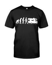 Camping Car Humour Retraite - Evolution de l'homme Classic T-Shirt front