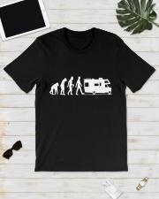 Camping Car Humour Retraite - Evolution de l'homme Classic T-Shirt lifestyle-mens-crewneck-front-17