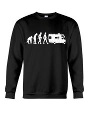 Camping Car Humour Retraite - Evolution de l'homme Crewneck Sweatshirt thumbnail