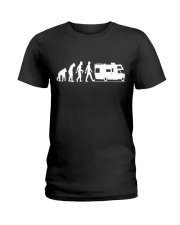 Camping Car Humour Retraite - Evolution de l'homme Ladies T-Shirt thumbnail