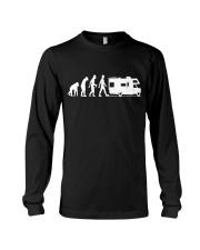 Camping Car Humour Retraite - Evolution de l'homme Long Sleeve Tee thumbnail