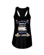 Je Suis Une femme SIMPLE Ladies Flowy Tank tile