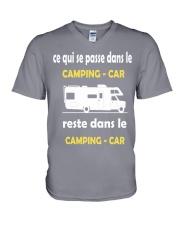 ce qui se passe dans le camping car V-Neck T-Shirt thumbnail