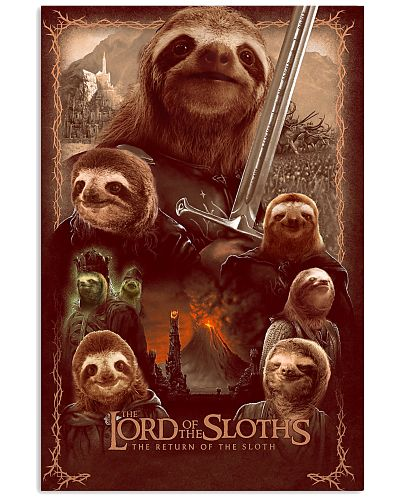 Lord of the Sloths Parody Poster
