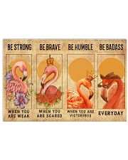Flamingos Quotes Poster 24x16 Poster front