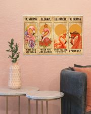 Flamingos Quotes Poster 24x16 Poster poster-landscape-24x16-lifestyle-22