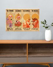 Flamingos Quotes Poster 24x16 Poster poster-landscape-24x16-lifestyle-25