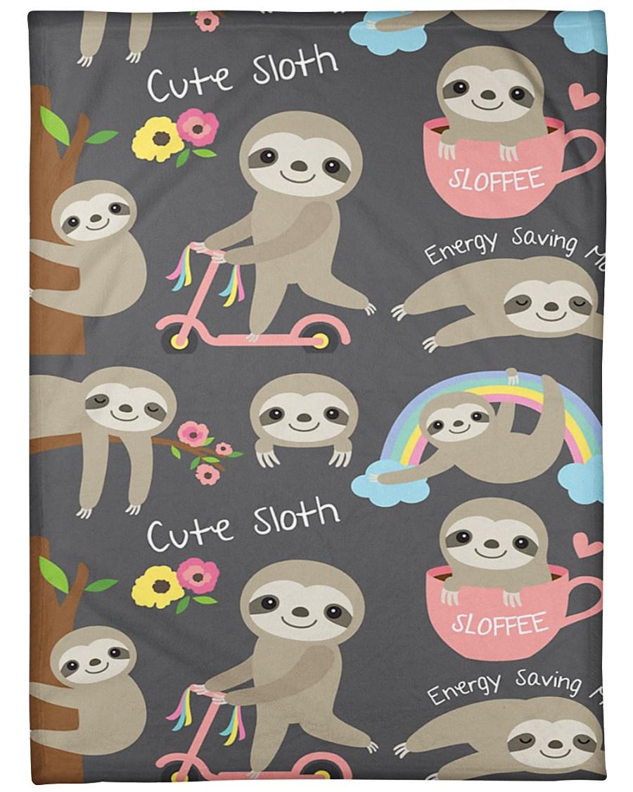 """Large Fleece Blanket - Sloth Blanket Large Fleece Blanket - 60"""" x 80"""""""