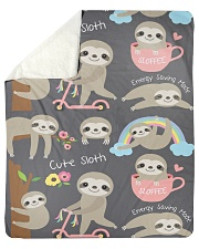 """Large Fleece Blanket - Sloth Blanket Sherpa Fleece Blanket - 50"""" x 60"""" thumbnail"""