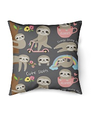 "Large Fleece Blanket - Sloth Blanket Indoor Pillow - 16"" x 16"" thumbnail"