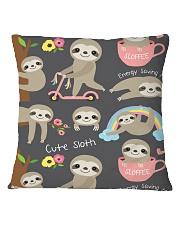Large Fleece Blanket - Sloth Blanket Square Pillowcase thumbnail