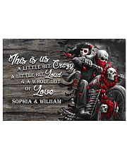 Personalize motorcycling poster 17x11 Poster front