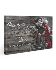 Personalize motorcycling poster Gallery Wrapped Canvas Prints tile