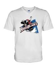 Arkansas Riverblades V-Neck T-Shirt thumbnail
