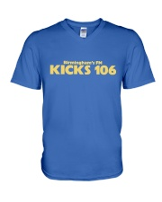 Kicks 106 - Birmingham's FM V-Neck T-Shirt thumbnail