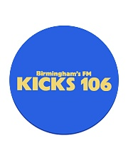 Kicks 106 - Birmingham's FM Circle Coaster thumbnail