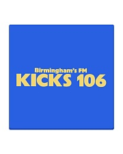 Kicks 106 - Birmingham's FM Square Coaster tile