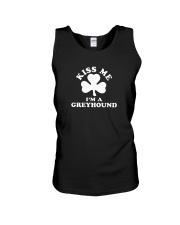 Kiss Me I'm a Greyhound Unisex Tank thumbnail