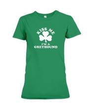 Kiss Me I'm a Greyhound Premium Fit Ladies Tee thumbnail