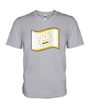 State Flag of Rhode Island V-Neck T-Shirt thumbnail