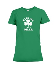 Kiss Me I'm a Oiler Premium Fit Ladies Tee thumbnail