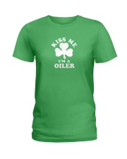Kiss Me I'm a Oiler Ladies T-Shirt thumbnail