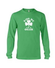 Kiss Me I'm a Oiler Long Sleeve Tee thumbnail