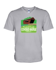 Covered Bridge Trail - Fairfield County Ohio V-Neck T-Shirt thumbnail