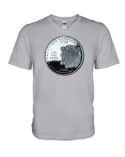 US Quarter - New Hampshire 2000 V-Neck T-Shirt thumbnail