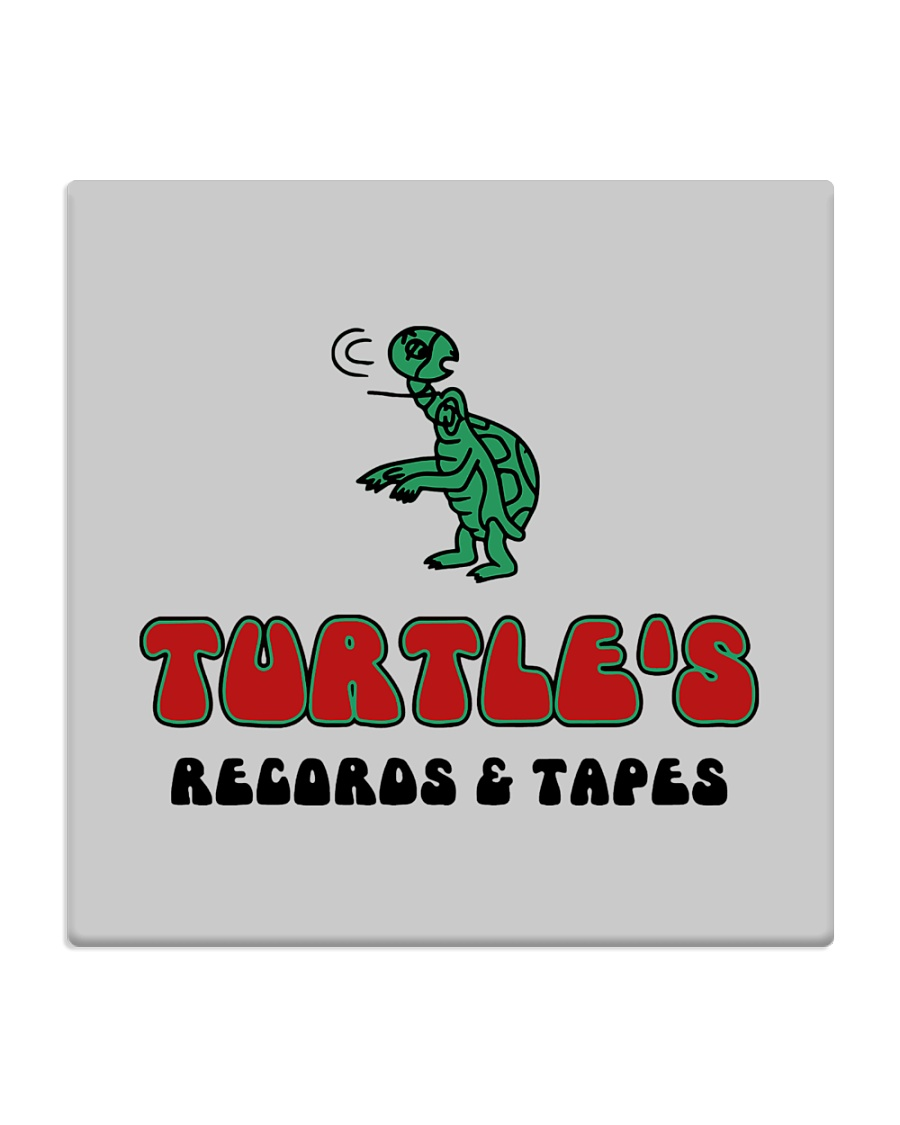 Turtle's Records and Tapes Square Coaster