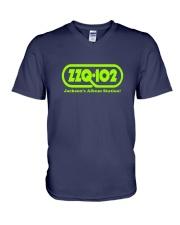 WZZQ Jackson's Album Station V-Neck T-Shirt thumbnail