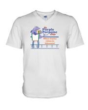 The Purple Porpoise - Chicago Illinois V-Neck T-Shirt thumbnail
