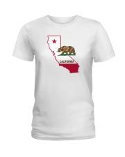 State Flag of California Ladies T-Shirt thumbnail