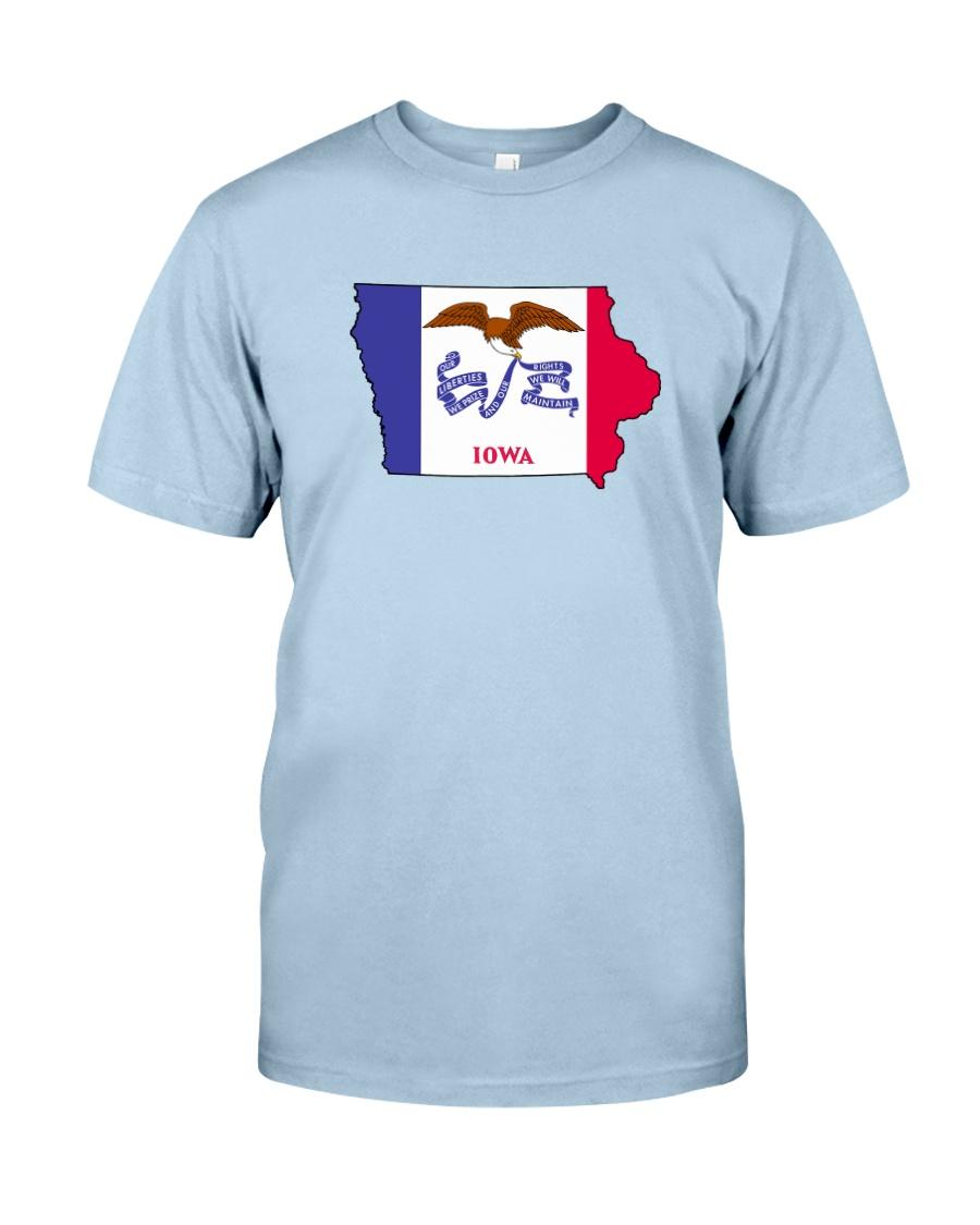 State Flag of Iowa Classic T-Shirt