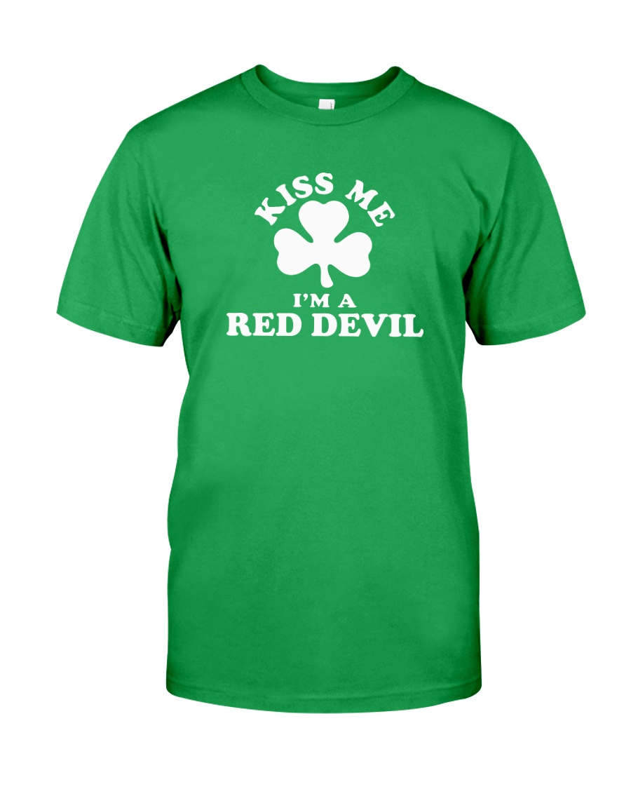 Kiss Me I'm a Red Devil Classic T-Shirt