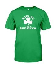 Kiss Me I'm a Red Devil Classic T-Shirt front