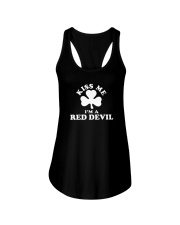Kiss Me I'm a Red Devil Ladies Flowy Tank thumbnail