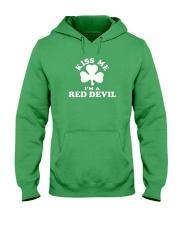 Kiss Me I'm a Red Devil Hooded Sweatshirt thumbnail