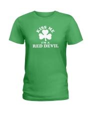 Kiss Me I'm a Red Devil Ladies T-Shirt thumbnail