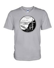 US Quater - Oregon 2005 V-Neck T-Shirt thumbnail