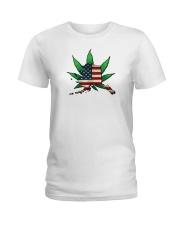 Alaska - Marijuana Freedom  Ladies T-Shirt thumbnail