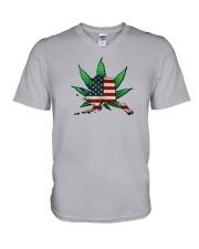 Alaska - Marijuana Freedom  V-Neck T-Shirt thumbnail