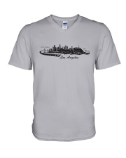 The Los Angeles Skyline V-Neck T-Shirt thumbnail