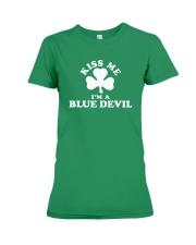 Kiss Me I'm a Blue Devil Premium Fit Ladies Tee thumbnail