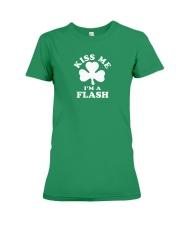 Kiss Me I'm a Flash Premium Fit Ladies Tee thumbnail