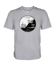 U S Quarter - Florida 2004 V-Neck T-Shirt thumbnail