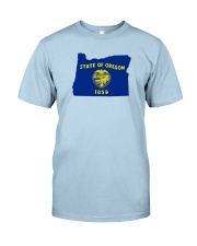 State Flag of Oregon Classic T-Shirt front