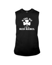 Kiss Me I'm a Red Rebel Sleeveless Tee thumbnail