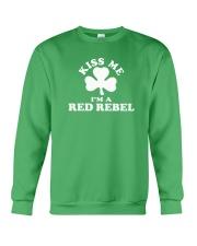 Kiss Me I'm a Red Rebel Crewneck Sweatshirt thumbnail